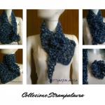 sciarpa blu collage
