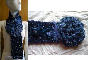 sciarpa blu
